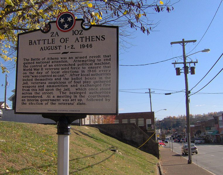 Battle-of-athens-tennessee-marker