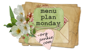 menu plan monday, 3-10