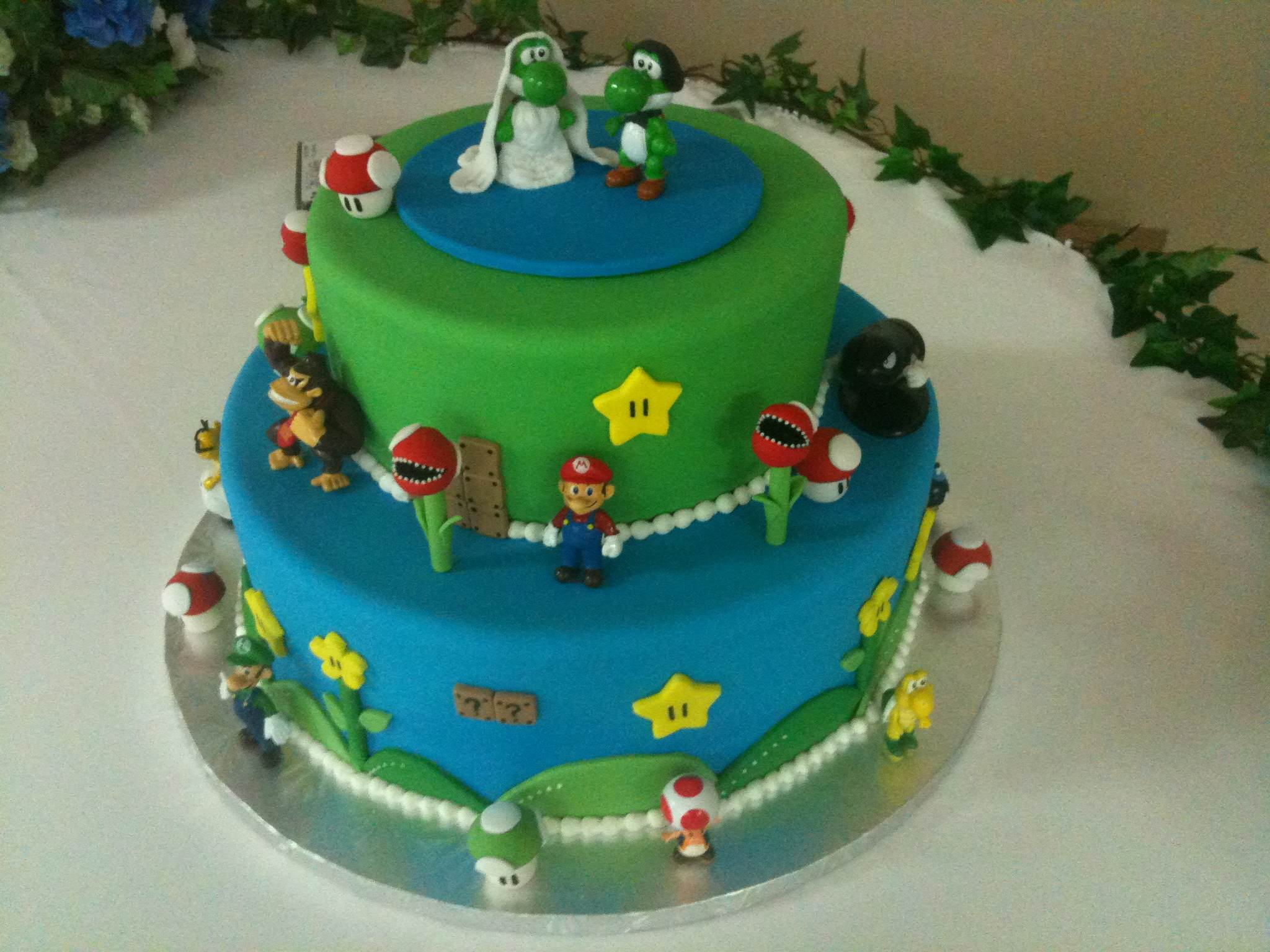 A & A wedding, groom's cake